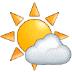 🌤️ sun behind small cloud Emoji on Samsung Platform