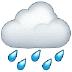 🌧️ cloud with rain Emoji on Samsung Platform