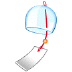 🎐 wind chime Emoji on Samsung Platform
