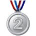 🥈 2nd place medal Emoji on Samsung Platform