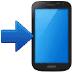 📲 Móvil con flecha Emoji en la plataforma Samsung