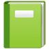 📗 green book Emoji on Samsung Platform