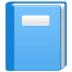 📘 blue book Emoji on Samsung Platform