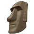 🗿 Moai Emoji on Samsung Platform