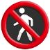 🚷 No Pedestrians Sign Emoji on Samsung Platform