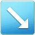 ↘️ down-right arrow Emoji on Samsung Platform