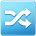 🔀 shuffle tracks button Emoji on Samsung Platform