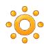 🔅 dim button Emoji on Samsung Platform
