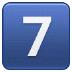 7️⃣ keycap: 7 Emoji on Samsung Platform