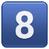 8️⃣ keycap: 8 Emoji on Samsung Platform