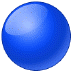🔵 blue circle Emoji on Samsung Platform