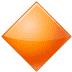 🔶 large orange diamond Emoji on Samsung Platform