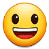 😃 Mukhang Nakangisi at Malaki ang Mata Emoji sa Samsung Platform