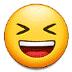😆 grinning squinting face Emoji on Samsung Platform