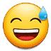 😅 grinning face with sweat Emoji on Samsung Platform