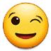 😉 आंख मारता चेहरा सैमसंग प्लेटफ़ॉर्म पर इमोजी