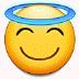 😇 smiling face with halo Emoji on Samsung Platform
