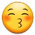 😚 kissing face with closed eyes Emoji on Samsung Platform