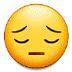 😔 चिंताग्रस्त चेहरा सैमसंग प्लेटफ़ॉर्म पर इमोजी