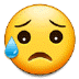 😥 sad but relieved face Emoji on Samsung Platform