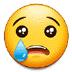 😢 哭脸 三星平台的表情符号