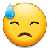 😓 downcast face with sweat Emoji on Samsung Platform