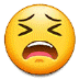 😫 tired face Emoji on Samsung Platform