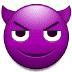 😈 Rosto Sorridente com Chifres Emoji na Plataforma Samsung