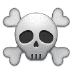 ☠️ skull and crossbones Emoji on Samsung Platform