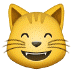 😸 grinning cat with smiling eyes Emoji on Samsung Platform
