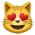 😻 smiling cat with heart-eyes Emoji on Samsung Platform