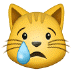 😿 Crying Cat Emoji on Samsung Platform