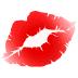 💋 Marca de Beijo Emoji na Plataforma Samsung