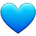 💙 blue heart Emoji on Samsung Platform