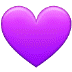 💜 purple heart Emoji on Samsung Platform