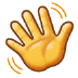 👋 waving hand Emoji on Samsung Platform