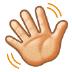 👋🏻 waving hand: light skin tone Emoji on Samsung Platform