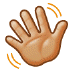 👋🏼 waving hand: medium-light skin tone Emoji on Samsung Platform