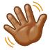 👋🏽 waving hand: medium skin tone Emoji on Samsung Platform