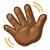 👋🏾 waving hand: medium-dark skin tone Emoji on Samsung Platform