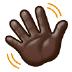 👋🏿 waving hand: dark skin tone Emoji on Samsung Platform