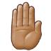 🤚🏽 raised back of hand: medium skin tone Emoji on Samsung Platform