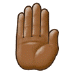 🤚🏾 raised back of hand: medium-dark skin tone Emoji on Samsung Platform
