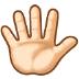 🖐🏻 hand with fingers splayed: light skin tone Emoji on Samsung Platform