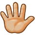 🖐🏼 hand with fingers splayed: medium-light skin tone Emoji on Samsung Platform
