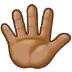 🖐🏽 hand with fingers splayed: medium skin tone Emoji on Samsung Platform