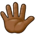 🖐🏾 hand with fingers splayed: medium-dark skin tone Emoji on Samsung Platform
