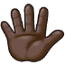 🖐🏿 hand with fingers splayed: dark skin tone Emoji on Samsung Platform