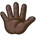 🖐🏿 Dark Skin Tone Hand With Fingers Splayed Emoji on Samsung Platform