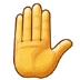 ✋ raised hand Emoji on Samsung Platform